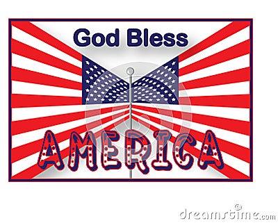 USA Flag God Bless America