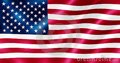 USA flag illustration.