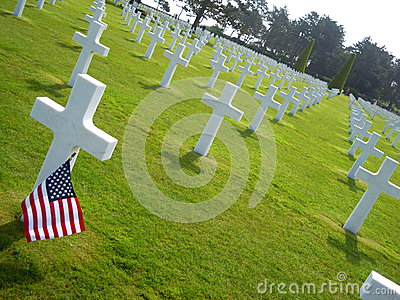 USA Flag in Normandie