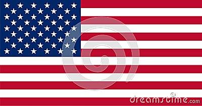 USA flag vector illustration