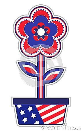 USA Flower Pot