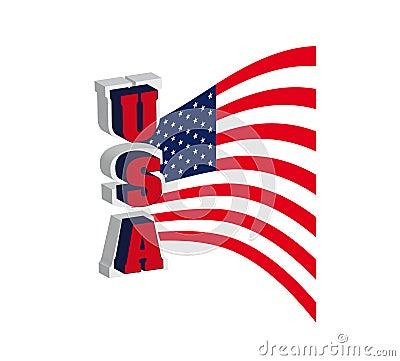 USA font flag