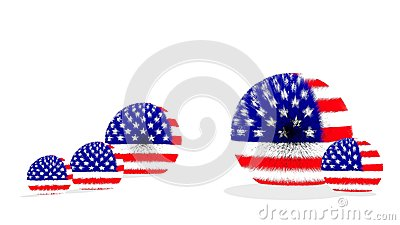 USA fur ball flag