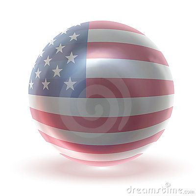 USA Glossy Crytsal Ball