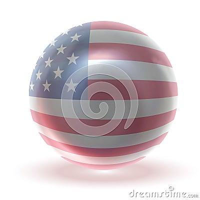 USA Glossy Crytsal Ball