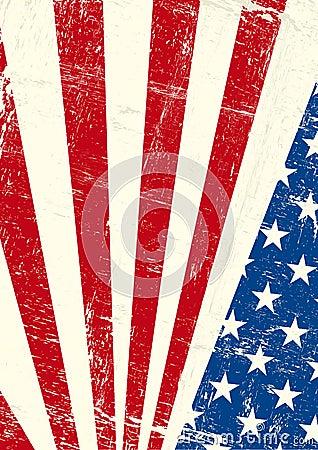USA grunge poster.