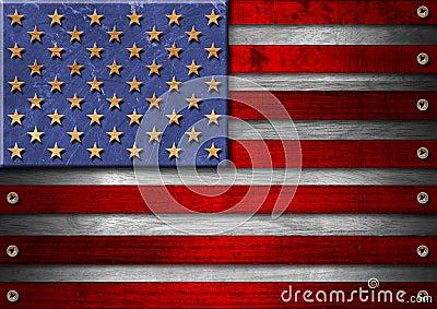 USA Grunge Wood Flag