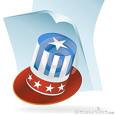 USA Hat Document Icon