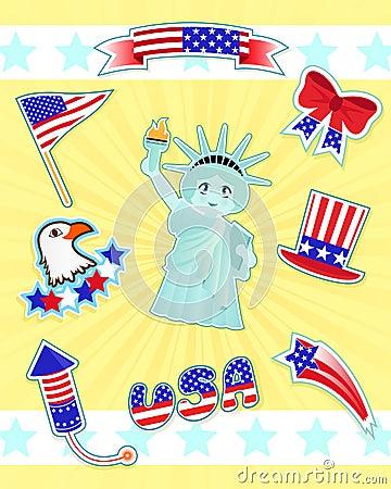 USA icons