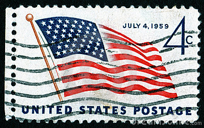 USA July 4th postage stamp