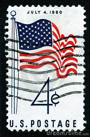 USA July 4th Postage Stamp