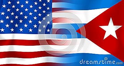 USA-Kuba Markierungsfahne