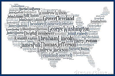 USA map american presidents