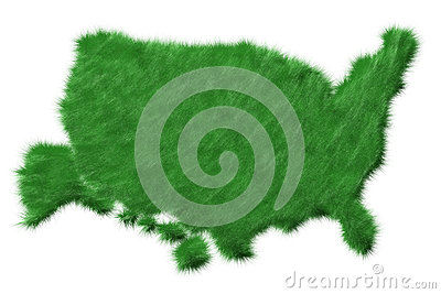 USA map from grass