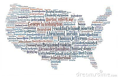 Usa map great people.