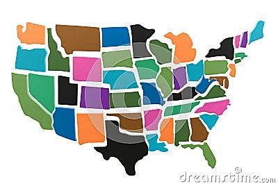 Us Map Puzzle Printable - Us maps puzzle