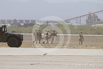 USA Marine Unit Evacuation Extraction Editorial Stock Photo