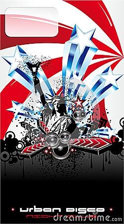 Usa Music Event Background