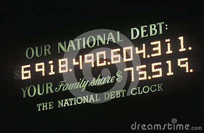 USA National Debt Editorial Photography