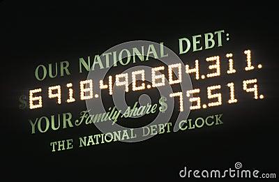 USA National Debt Editorial Photography