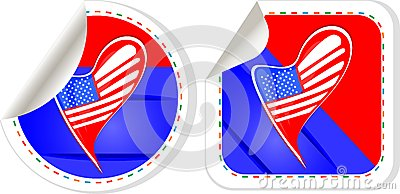 USA national and patriotic concepts for badge