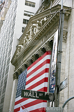 USA, New York, Wallstreet, Stock Exchange Editorial Image