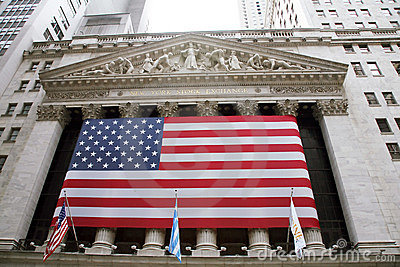 USA, New York, Wallstreet, Stock Exchange Editorial Stock Image