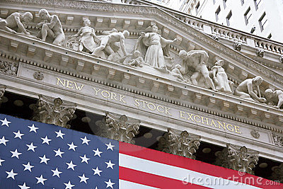 USA, New York, Wallstreet, Stock Exchange Editorial Photography