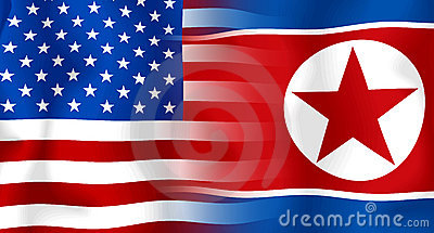 Usa-North Korea Flag
