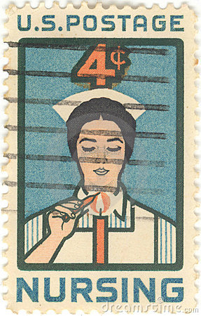 USA Nursing 4 Cent Stamp