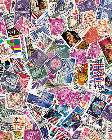 Free Usa Postage Stamps Royalty Free Stock Image - 13552936