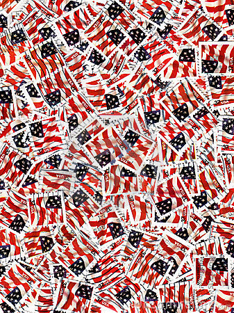 Usa postage stamps - flags