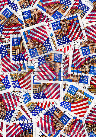 Free Usa Postage Stamps - Flags Royalty Free Stock Image - 13601556