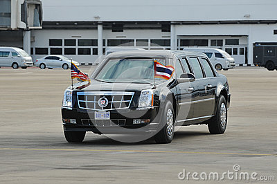 USA Prezydencki Stan Samochód Fotografia Editorial