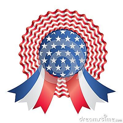 Usa ribbon or badge