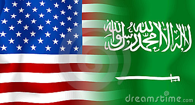 Usa-Saudi Arabia Flag