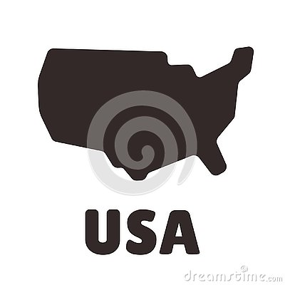 USA shape icon Vector Illustration