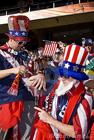 USA Soccer Supporters - FIFA WC Editorial Photography