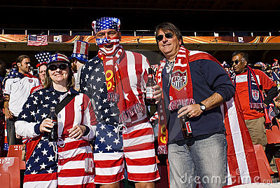 USA Soccer Supporters - FIFA WC 2010 Editorial Photo