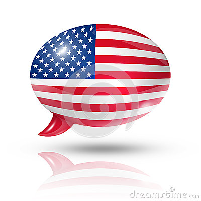 USA speech bubble