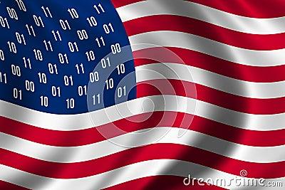 USA spy flag concept