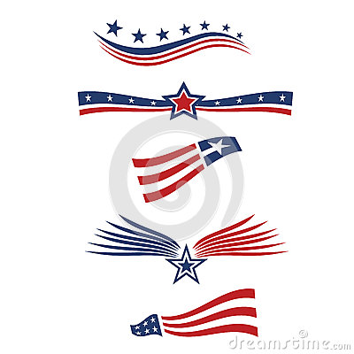 Free USA Star Flag Design Royalty Free Stock Image - 33825216