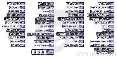 USA states rubber stamps - cdr format