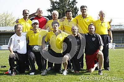 USA team vs IRAN team, youth soccer Editorial Stock Image