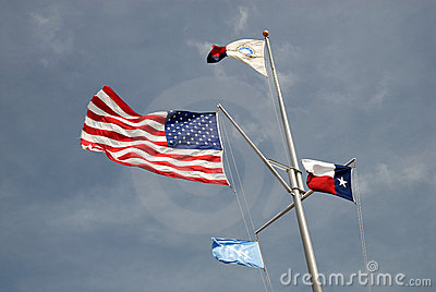 USA and Texas state flags
