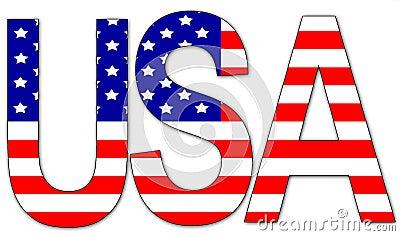 USA - text