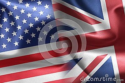 USA an UK flags