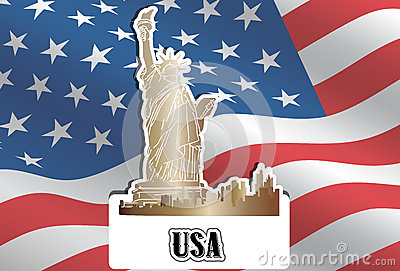 USA, United States of America, illustration