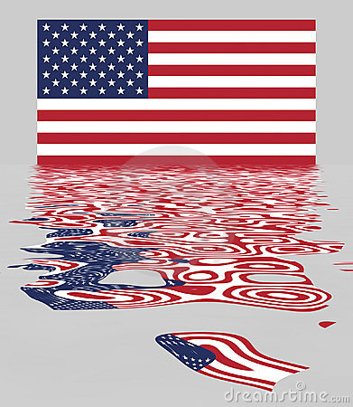 USA / US Flag With Reflection