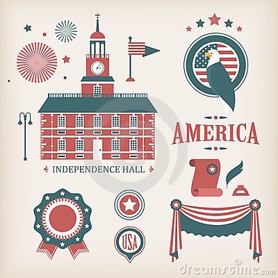 USA vector icons